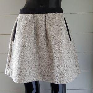 French Connection Tweed Flare Skirt